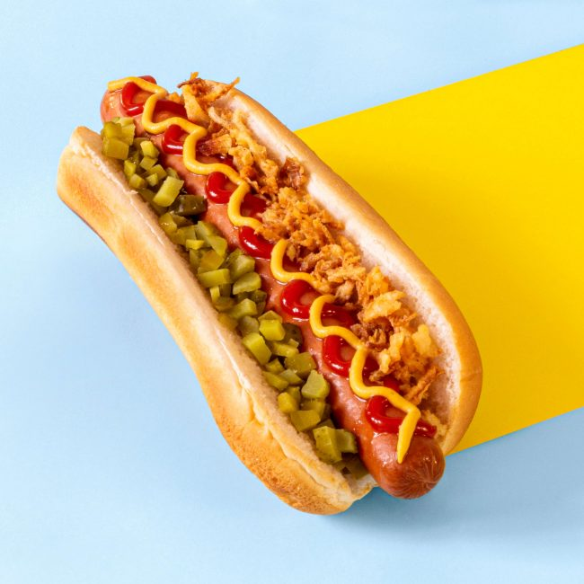 Hot dog food styling